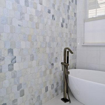 Undeniably a Spa Feeling in a Stunning Master Bathroom Remodel in Haymarket VA