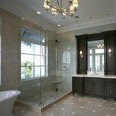 Transitional Bathroom by Barbara Cortney Designs Inc.