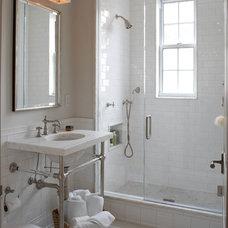 Transitional Bathroom by B Moore Design, Inc.