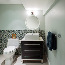 Transitional Bathroom by Hillcrest Design Inc.