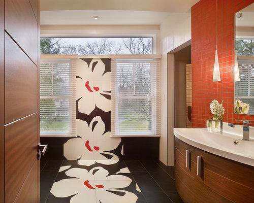 Unique bathroom designs houzz for Unique small bathroom ideas