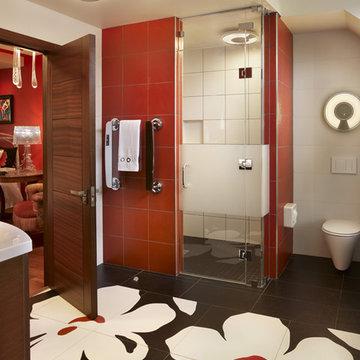 Unique bathroom design in Villanova, PA