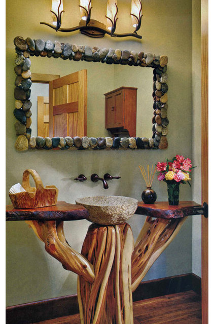 Eclectic Bathroom by Woodland Creek Furniture