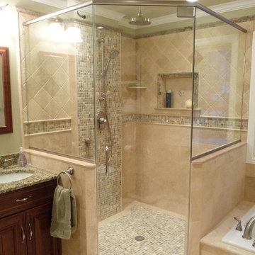 Uniquely Transitional Bathroom Remodel