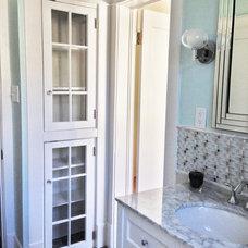 Transitional Bathroom by Vogel-Murrell Development LLC