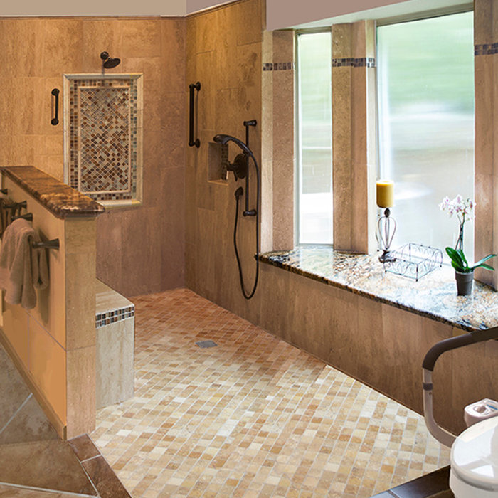 Universal Design Remodel Master Bath for Accessibility