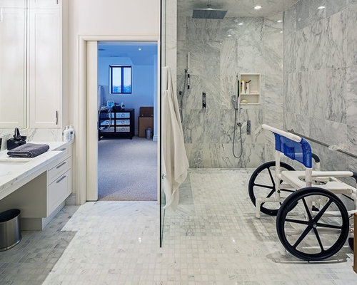 Wheelchair accessible bathroom home design ideas pictures for Wheelchair accessible bathroom designs