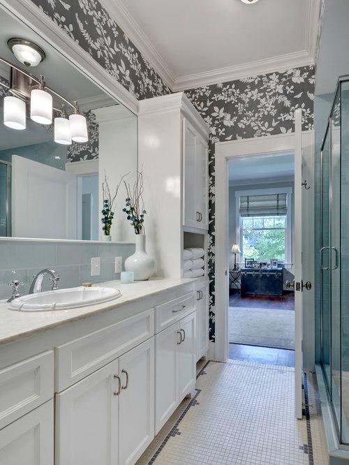 Linen closet houzz - Bathroom linen closet dimensions ...