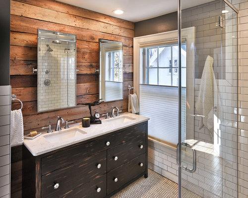 Rustikale Badezimmer Fotos : Rustikale badezimmer mit verzierten schränken ideen