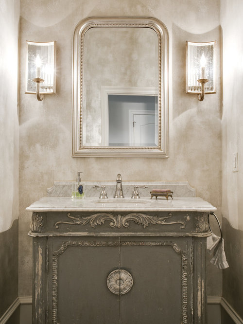Wall sconces with oval mirror ideas pictures remodel and for Powder bathroom vanities