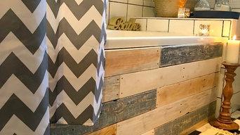 Upcycled Bathroom on a Budget