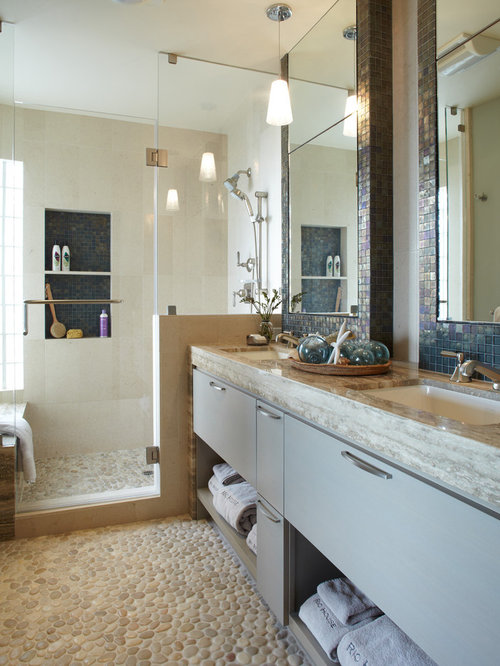 bathroom design ideas renovations photos with grey cabinets and
