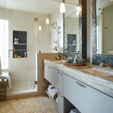 Beach Style Bathroom by Pamela Pennington Studios