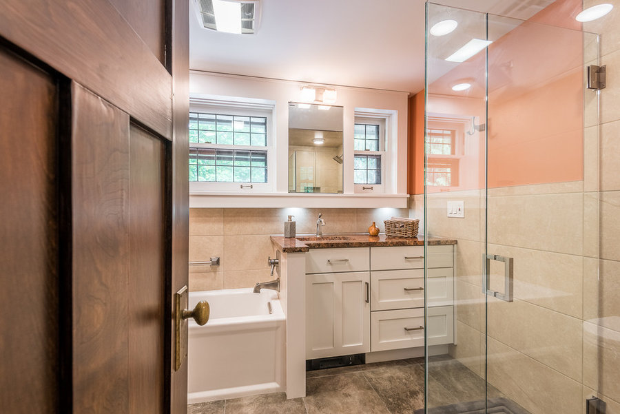 Updated Craftsman Bathrooms With Modern Touches Champaign