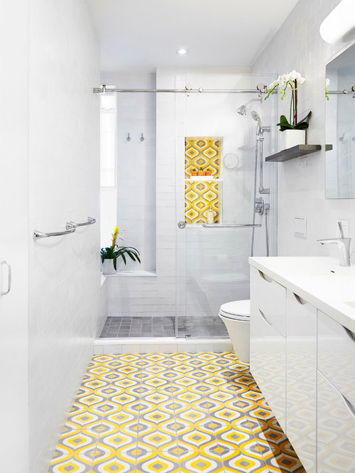 Wow Yellow Tile Bathroom 64 Regarding Designing Home Inspiration With