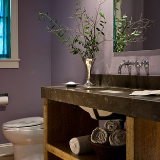 75 most popular bathroom and cloakroom with purple walls