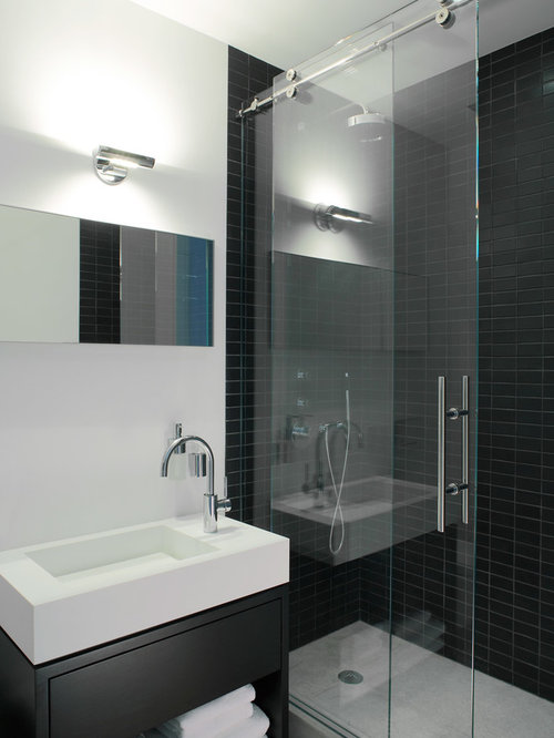 Frameless Sliding Shower Door System Houzz