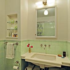 Traditional Bathroom by Martin Brandwein Architect