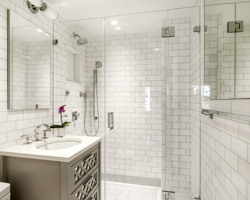 5x8 Bathroom in addition Traditional Home Living Room Design furthermore Large Octagon Tile Black additionally Farmhouse Living Room Tv Ideas besides Chic Rejuvenation Lighting Vogue Metro Eclectic Bathroom Decorators Brass Hardware Built Shower Bench Carrara Marble Glass Shower Enclosure Grey Cabi s Hex. on carrara marble traditional bathroom new york