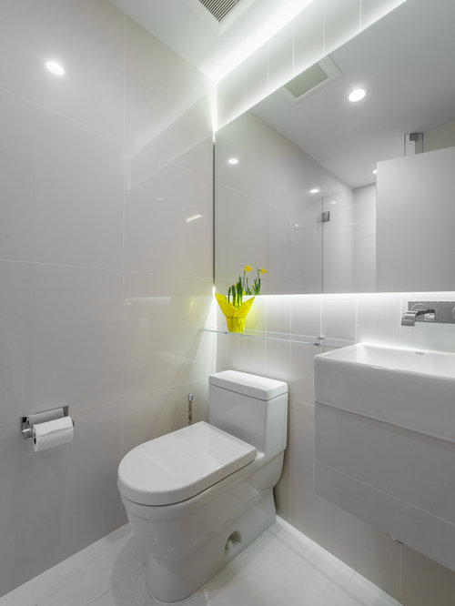 Small white bathroom houzz for All white bathrooms ideas