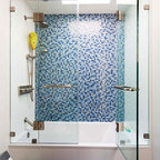 Traditional Black and White Tile Bathroom Remodel - Traditional - Bathroom - Los Angeles - by ...