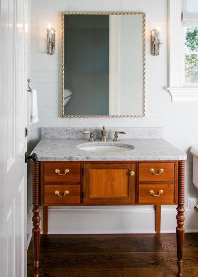 American Traditional Bathroom by Worthington & Shagen Custom Builder, Inc.