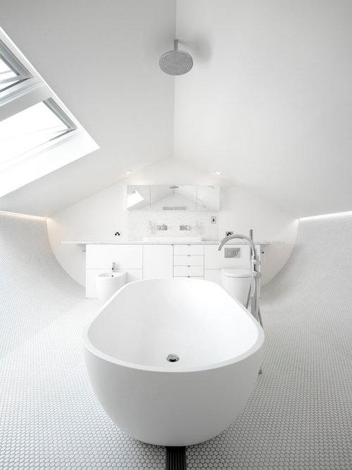 houzz  all white bathroom design ideas  remodel pictures, Bathroom decor