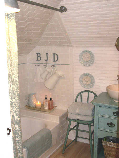 Small Bathroom Designs Slanted Ceiling sloped ceiling bath | houzz