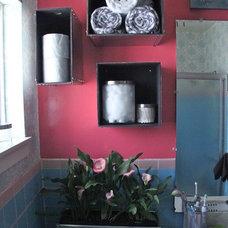 Midcentury Bathroom Upstairs bathroom goes steam punk