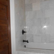 Transitional Bathroom by Maison de Luca Design, LLC