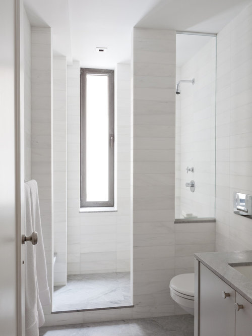 Window in shower houzz for Glass block r value