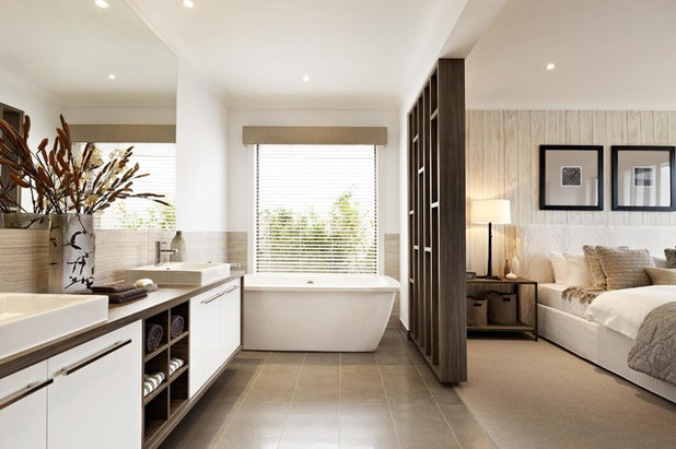 Comment recloisonner l 39 espace salle de bains dans une - Creer une salle de bain dans une chambre ...