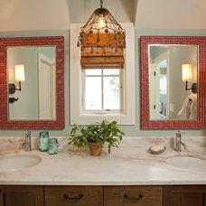 Farmhouse Bathroom by REFINED LLC