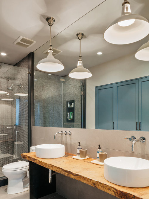Wood Slab Vanity Home Design Ideas Pictures Remodel And