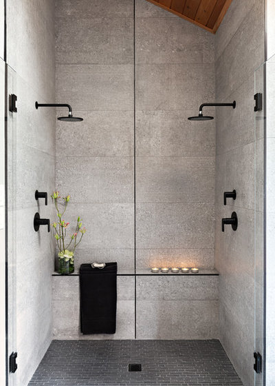 Contemporary Bathroom by Lauren Levant Interior