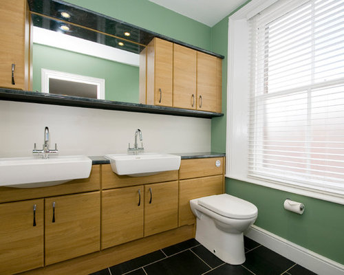Kent bathroom ideas photos with an integrated sink for Bathroom designs kent