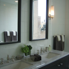 traditional bathroom by Lea Frank Design