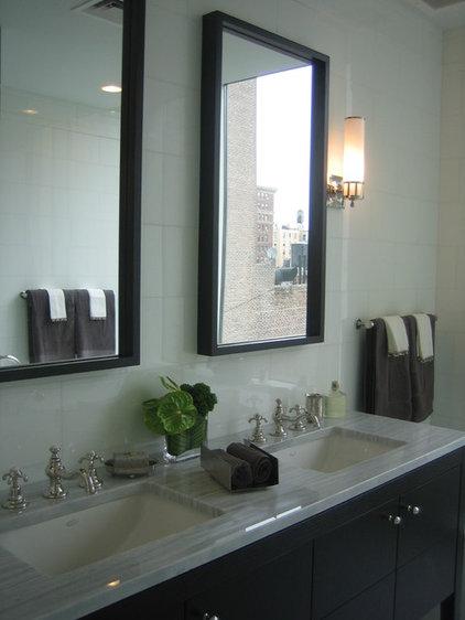 Transitional Bathroom by Lea Frank Design