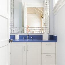 Transitional Bathroom by Jill Litner Kaplan Interiors