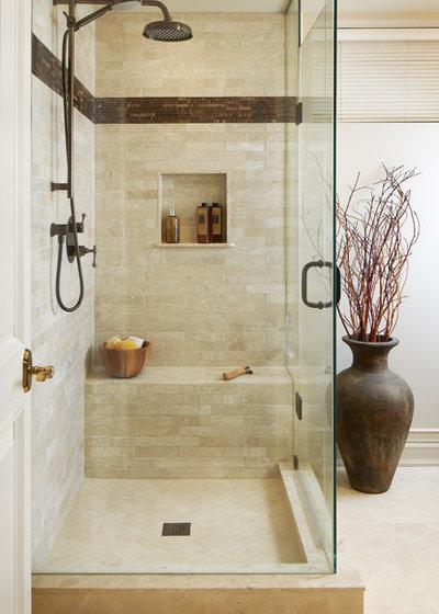 Transitional Bathroom by Darlene Shaw Design Inc.