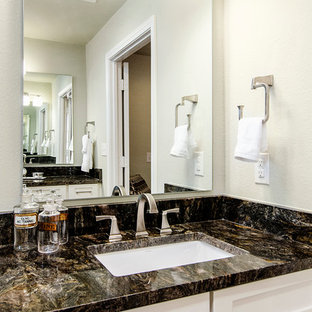 Example of a transitional bathroom design in Dallas
