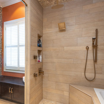 Vanessa and Andrews Master Bath - Private Home - Knoxville, Tennessee