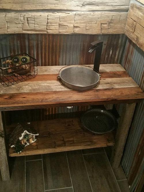 badezimmer mit einbauwaschbecken und linoleumboden ideen. Black Bedroom Furniture Sets. Home Design Ideas
