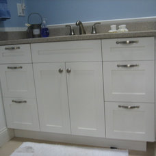Beach Style Bathroom by Duncan Woodworking