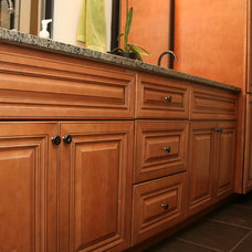 Traditional Bathroom by Woodwright Cabinets
