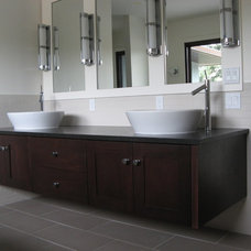 contemporary bathroom by NEXS Cabinets Inc.