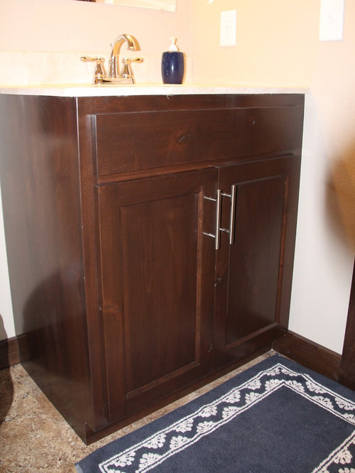 Vanities With Built In Step Stool Linen Cabinets