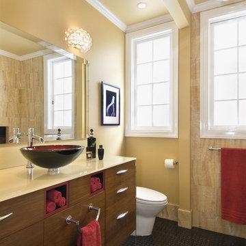 Vanity in her Bathroom