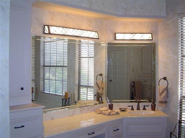 Traditional Bathroom by Desola Glass, Art & Frame Gallery, Inc.