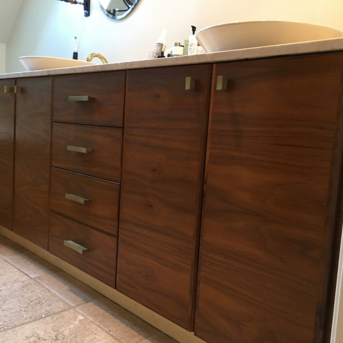 Vanity Re-facing and Bathroom Cabinet